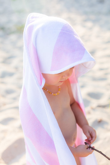 Turkish Cotton Hooded Towel Pink