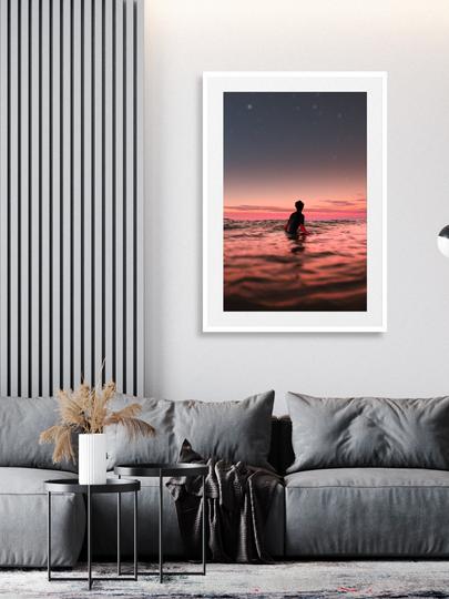 SUNSET SURFER | WHITE FRAME