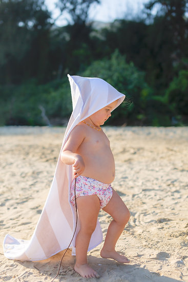 Turkish Cotton Hooded Towel Beige