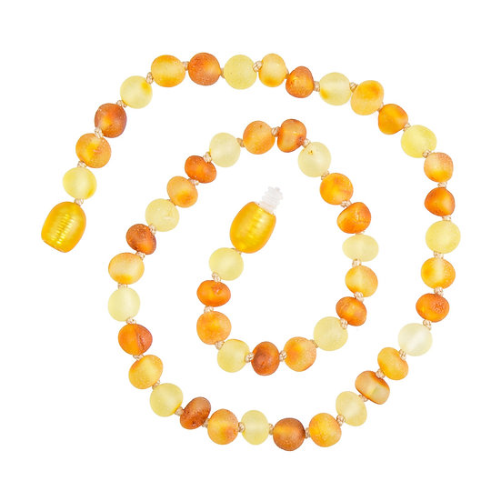 Baltic Amber Teething Necklace Lemon, Honey & Bright Cognac