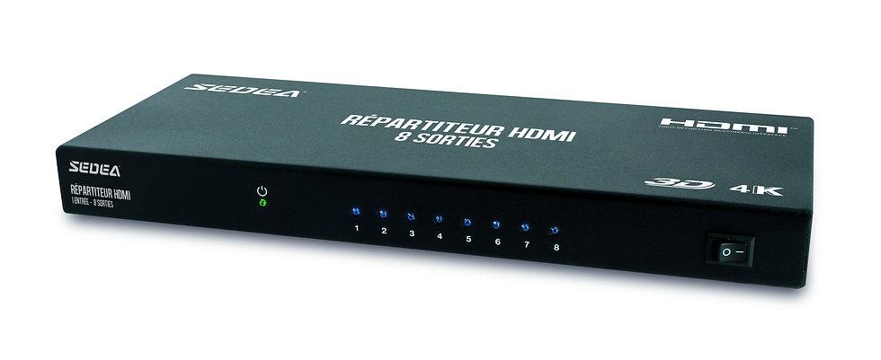 Répartiteur HDMI – 1 entrée / 8 sorties