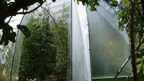 """Serre """"Tomatière"""" traditionnelle porte demi pignon - largeur 3m - ø 30"""