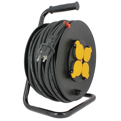 Enrouleur électrique étanche avec terre / 16A / 3 x 1,5 mm2 / 50 m