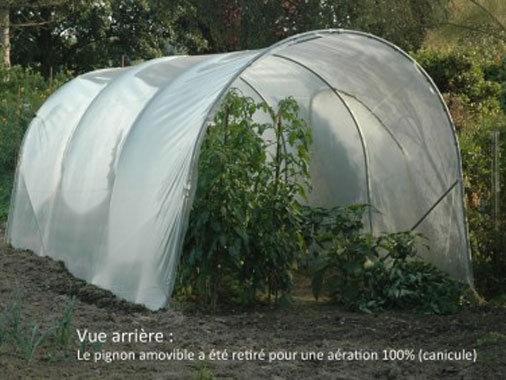 Tomatière classique  Larg. x2m40  bâche enterrée acier renforcé 30mmx2mm