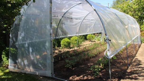 """Serre """"Tomatière"""" traditionnelle porte demi pignon - largeur 3m - ø 30 - AL"""