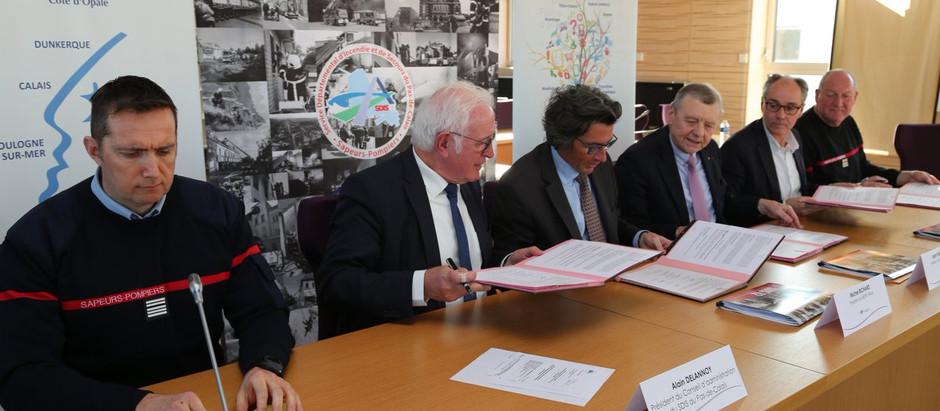 Signature d'une convention entre le SDIS 62 & le MEDEF