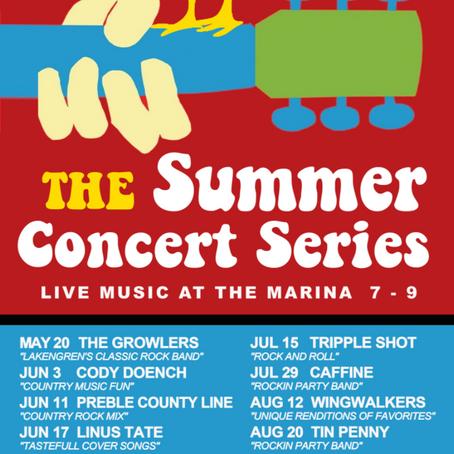 Summer Concert Series at the Marina