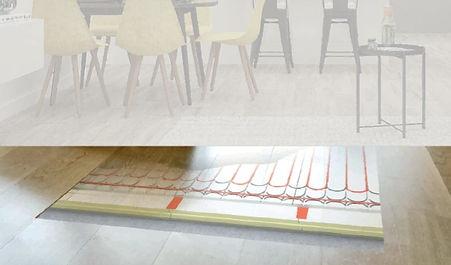 Solutions de chauffage et de rafraîchissement par rayonnement Fixis à Waterloo.  Chauffage par le sol, chauffage par le mur et  chauffage par le plafond. Chauffage au sol,  murs chauffants et murs raffraichissants, système de  chauffage par rayonnement Fixis à Waterloo