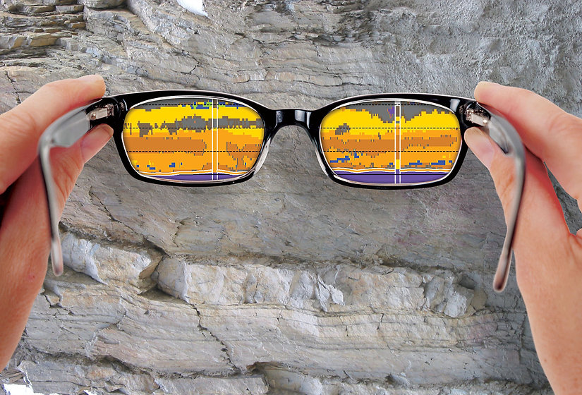 Glasses that transforms seismic attributes to plain geology.