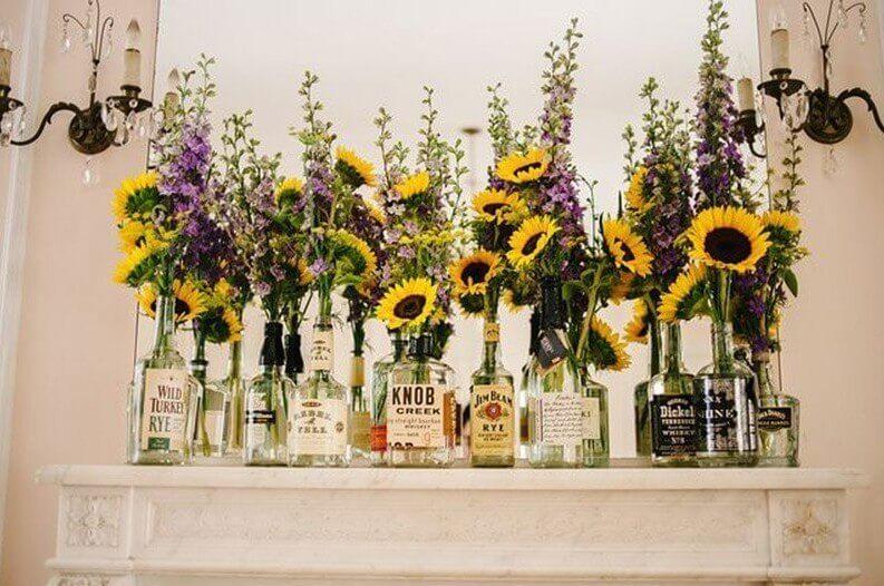Assorted Whiskey Bottles