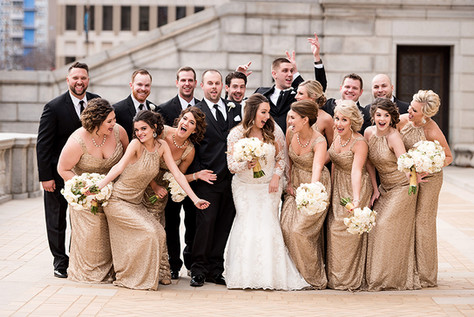 Black, Gold, and Ivory wedding