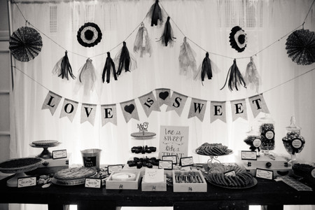 Rustic Dessert Table with Backdrop