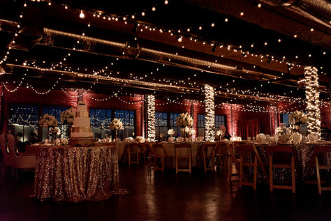 Ivory and gold glam wedding