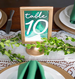 Gold Frame Table Numbers