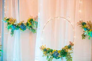 Simple Backdrop and Floral Rings