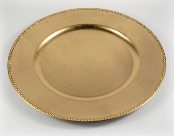 "Gold or Silver 13"" Charger"