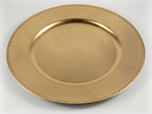 "Gold Charger Plates 13"" (non-glass)"
