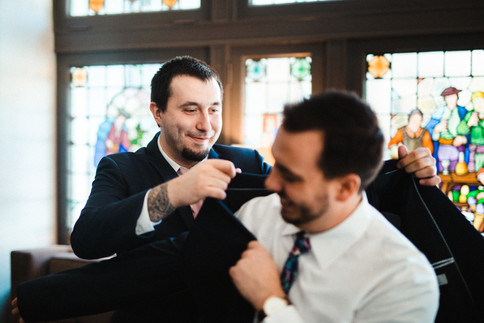Prepping the Groom