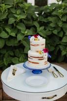 Simple Half Naked Cake