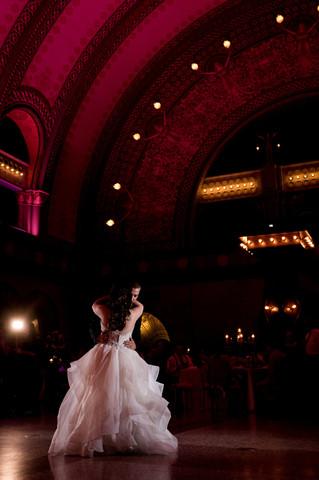 Reception Venue: Union Station Grand Hall Photographer: Ashley Fisher Photography Florals: Belli Fiori Wedding Planner: Inspired Design Weddings & Events Dress: Simply Elegant Bridal Wedding Designer: Table 10 Events
