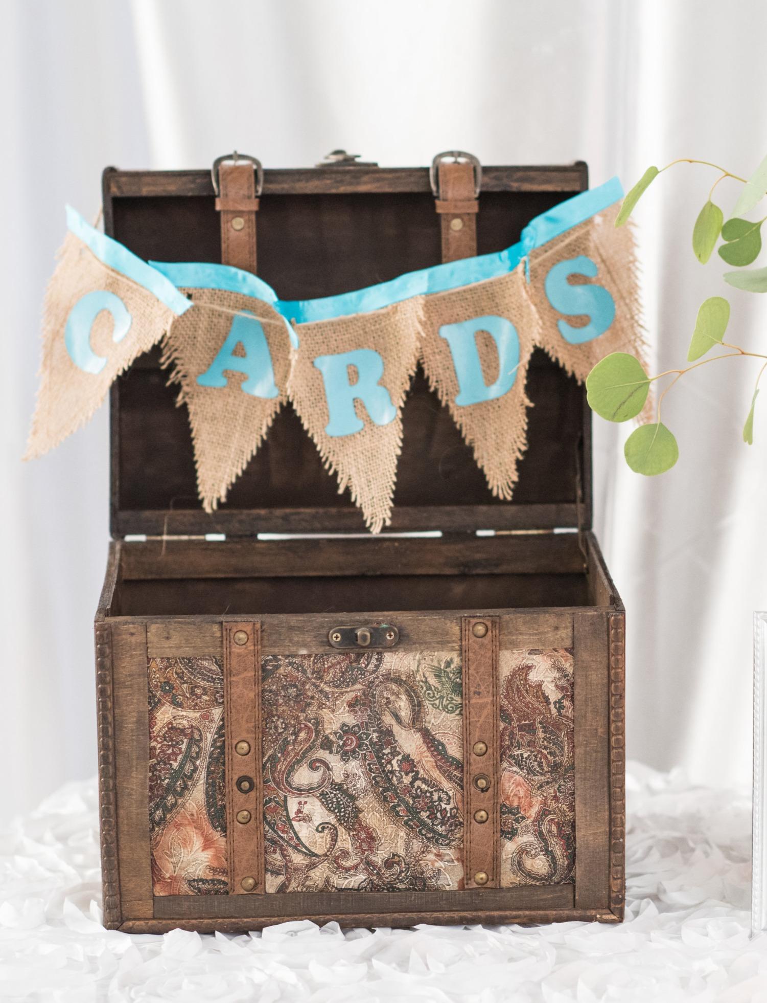 Vintage Luggage Card Box