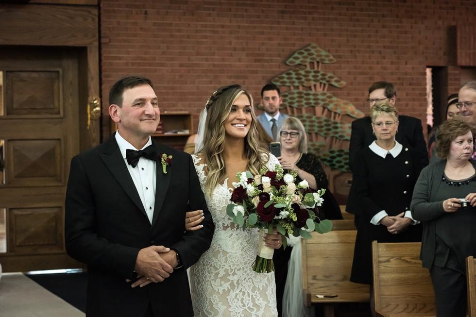 The Bride's entrance