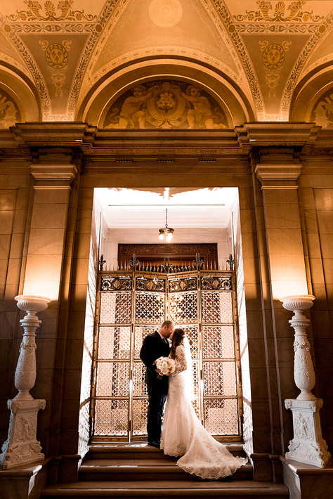 Bride and Groom at Library