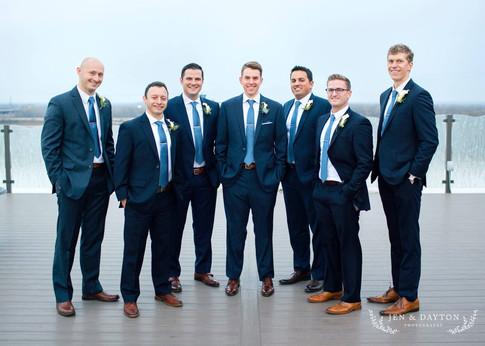 Groom & his groomsmen
