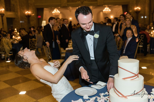Cake cutting hysterics.