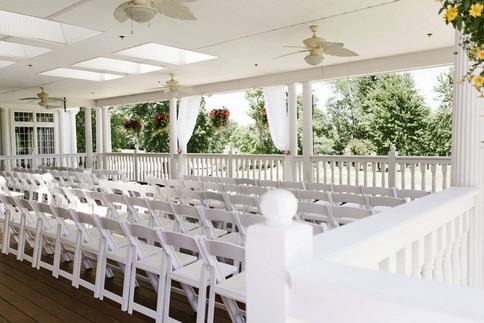 Pavillian set for the wedding