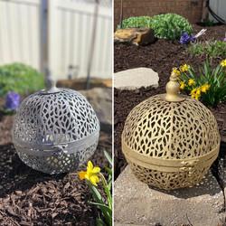 Large Sphere Metal Lanterns