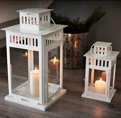 Large & Medium White Lanterns
