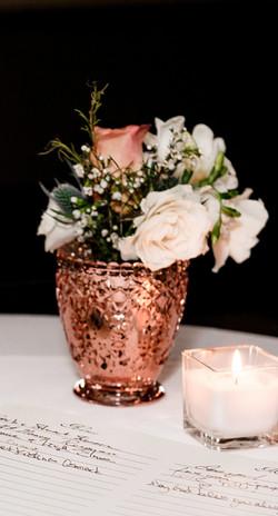 Rose Gold Mini Vase or Votive Holder