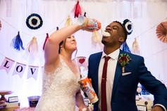 Bride and Groom joking around