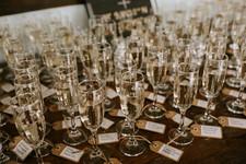 Escort Card Champagne Flutes