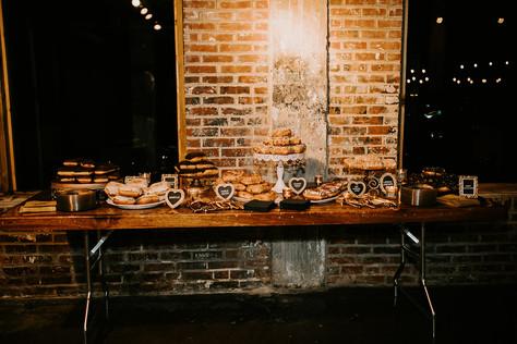 The Donut Dessert table