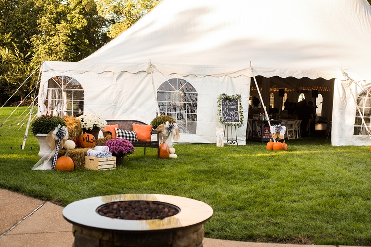 Entrance to the reception tent