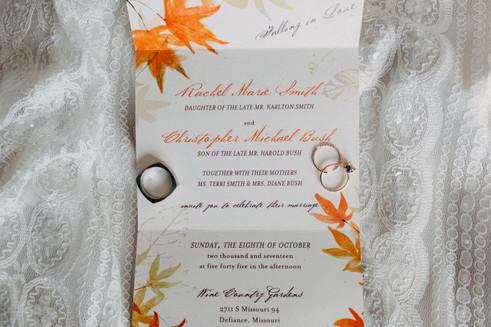 Fall Themed Invite