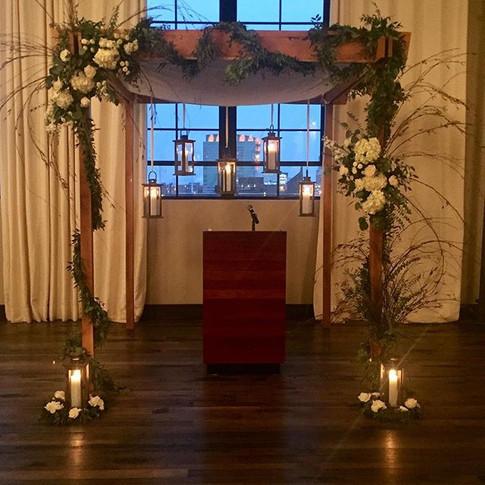 Winter wedding altar