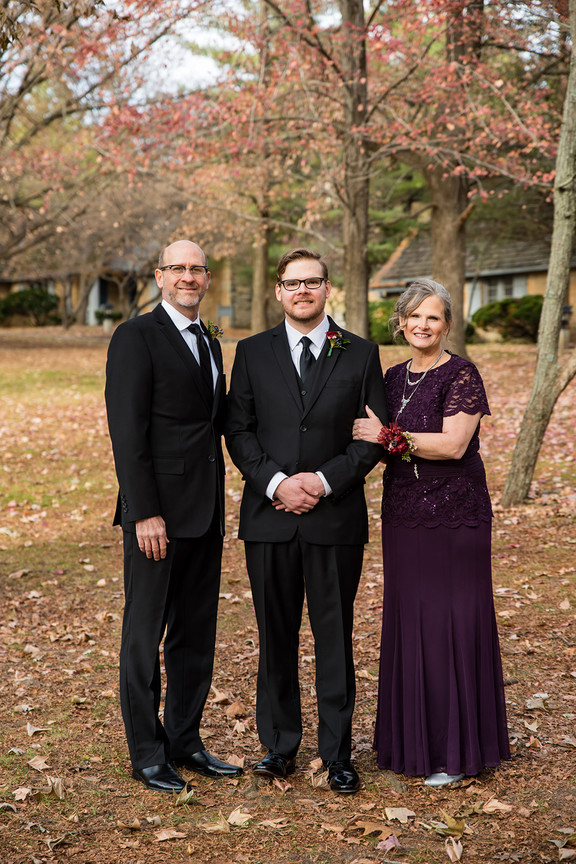 James and his parents
