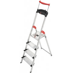 Escalera Tijera Aluminio plataforma HAILO 4 peldaños