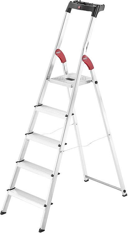Escalera de aluminio con plataforma 5 peldaños 8160-507