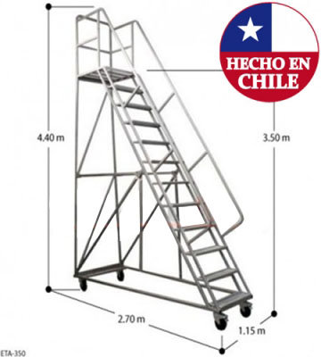 ESCALERA TIPO AVION ACERO 3,5 M.
