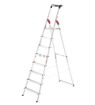 Escalera de Aluminio con Plataforma 6 peldaños
