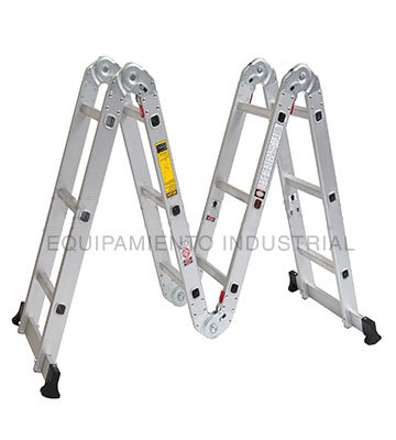 Escalera aluminio multiproposito con bandejas CUPRUM