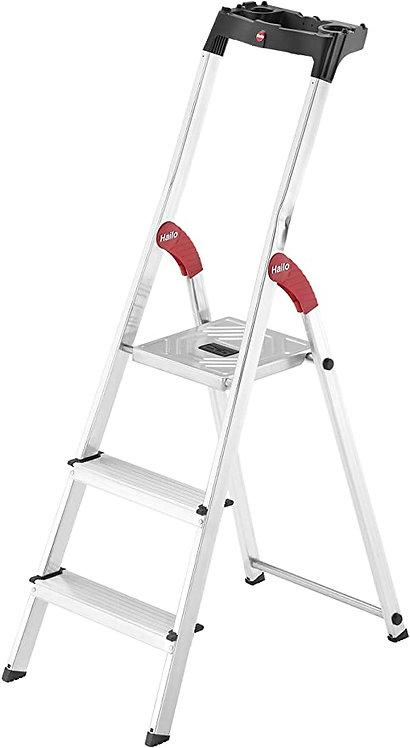Escalera Tijera Aluminio Plataforma 3 peldaños