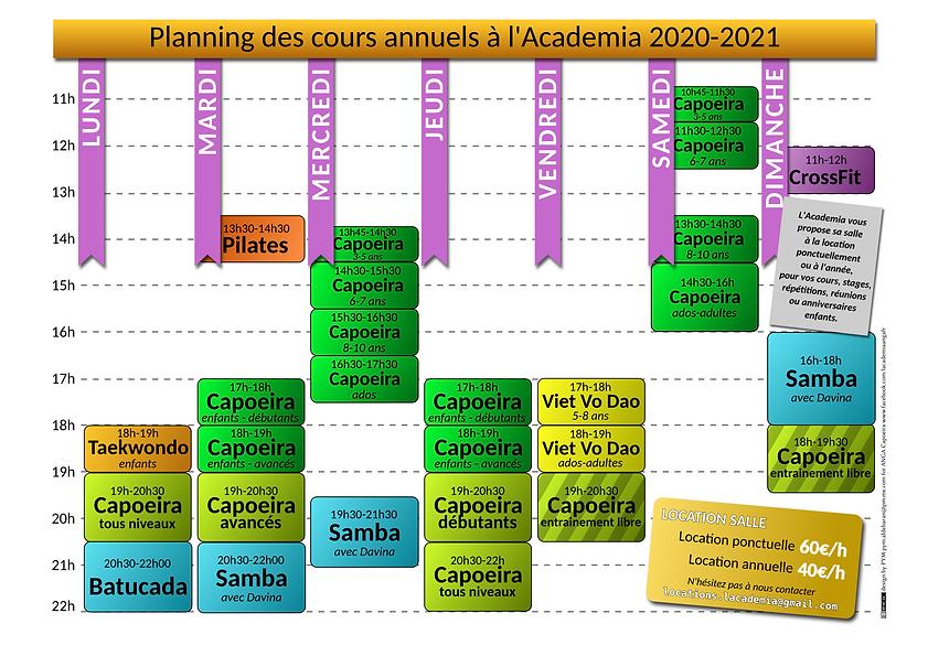 Planning de l'Academia