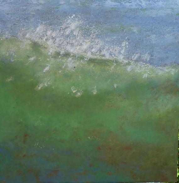Die cornische Welle, 90x90, Acryl auf Leinwand, 2017