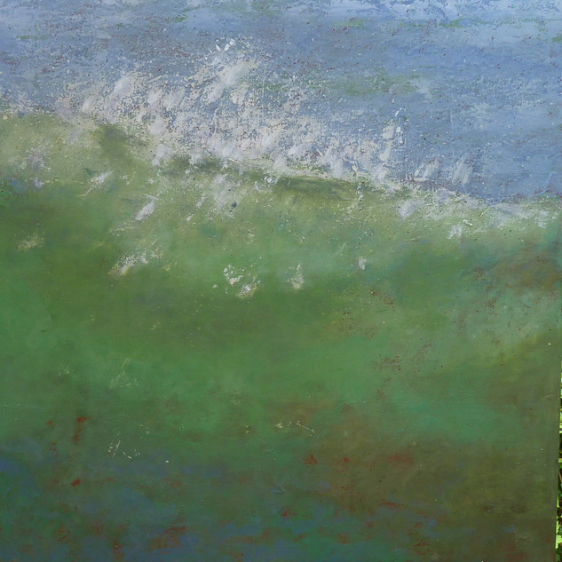 Die Welle, 90x90, Acryl auf Leinwand, 2017