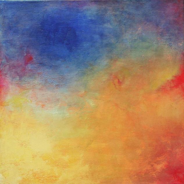 Hommage an Turner, 60x60, Acryl auf Leinwand, 2001